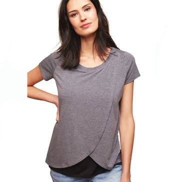 Motherhood Maternity Tulip Hem Nursing Tee