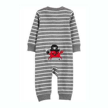 Carter's Baby Boys' Crab Striped Zip Up Cotton Footless Sleep N Play