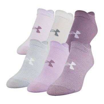 Under Armour Women's 6-Pack Essential No Show Socks