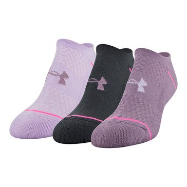 Under Armour Women's 3-Pack Phenom No Show Socks