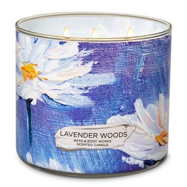 Bath & Body Works Lavender Woods 3-Wick Candle