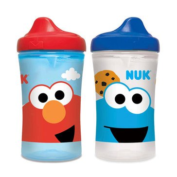 Nuk 10oz Hard Spout Cups Sesame Street, 2-Pack