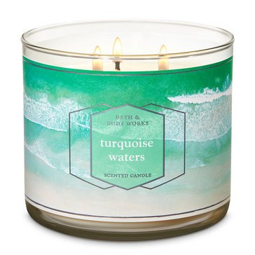 Bath & Body Works Turquoise Waters 3-Wick Candle