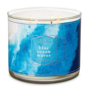 Bath & Body Works Blue Ocean Waves 3-Wick Candle
