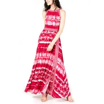 I.N.C. International Concepts Women's Tie Dye Border Maxi Dress