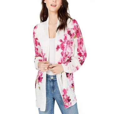 I.N.C. International Concepts Women's Floral Duster Lace Trim