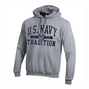 Champion Mens US Navy EST 1775 Tradition Powerblend Fleece Hoodie