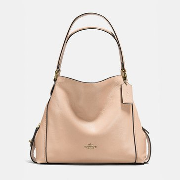 Coach Polished Pebble Leather Edie 31 Shoulder Bag