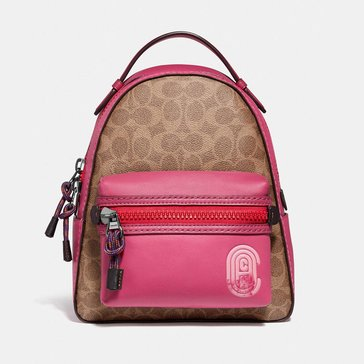 Coach Coated Canvas Signature Coach Patch Campus Backpack 23