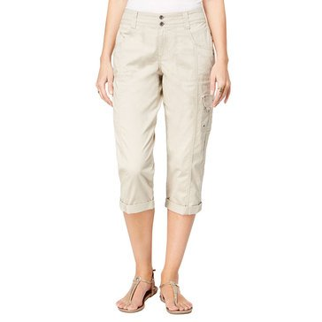 Style & Co Women's D-Ring Cargo Capri Pants