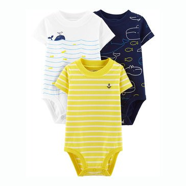Carter's Baby Boys' 3-Pack Whale Original Bodysuits
