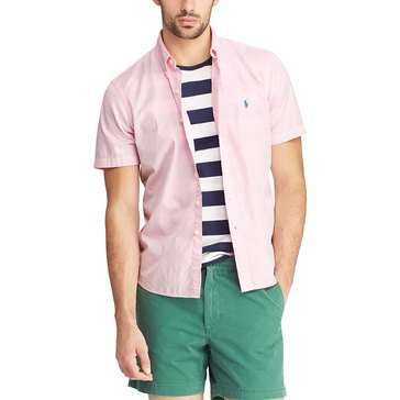 Polo Ralph Lauren Men's Sportshirt Garment Dyed Chino Solid Pink
