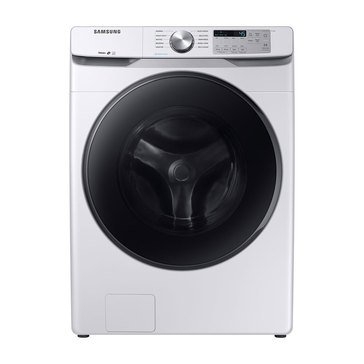 Samsung 4.5-Cu.Ft. Front Load Washer with Steam, White (WF45R6100AW)