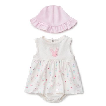 Rene Rofe Baby Girls' Bunny Hat and Sunsuit