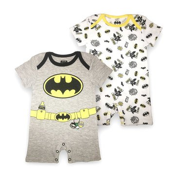 Happy Threads Baby Boys' Batman 2-Pack Romper