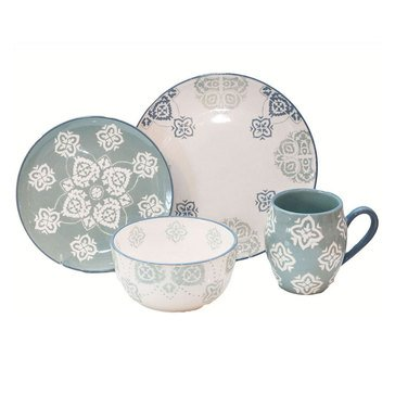 Baum Bros 16-Piece Painterly Dinnerware Set