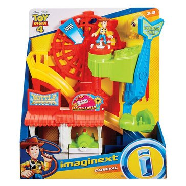 Fisher-Price Imaginext Disney Pixar Toy Story 4 Carnival Play Set with Woody Figure