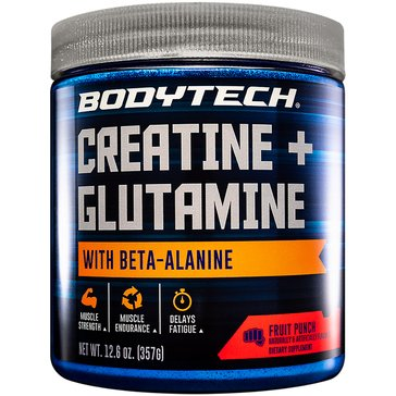 BodyTech Creatine Plus Glutamine With Beta-Alanine - Fruit Punch, 12.6oz 31 Servings