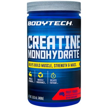 BodyTech Creatine Monohydrate Fruit Punch 16.5oz 78 Servings