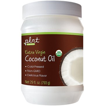Plnt Organic Extra Virgin Coconut Oil Cold Pressed and Non-GMO 29 Ounce Solid