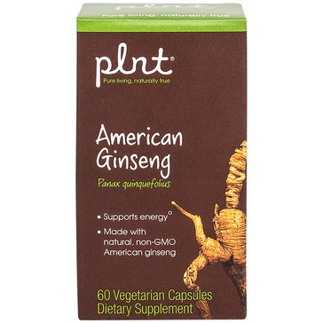 Plnt American Ginseng Non-GMO 60 Vegetarian Capsules
