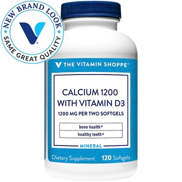 The Vitamin Shoppe Calcium 1200 with Vitamin D3 1,200 MG 120 Softgels