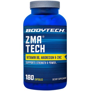 BodyTech ZMA Tech Zinc, Magnesium and Vitamin B6 180 Capsules