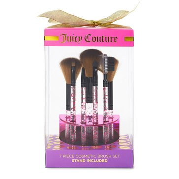 Juicy Couture 7-Piece Brush Set with Stand