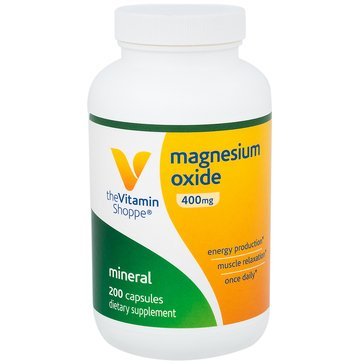 The Vitamin Shoppe Magnesium Oxide 200 MG 200 Tablets