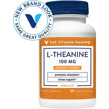 The Vitamin Shoppe L-Theanine 100 MG 60 Capsules