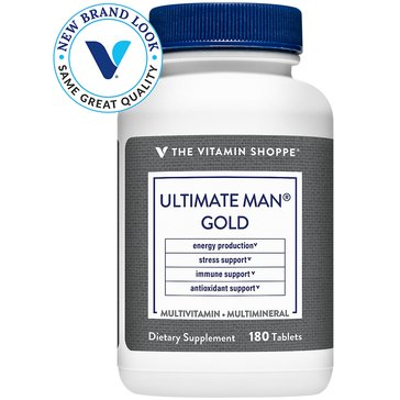 The Vitamin Shoppe Ultimate Man Gold Multivitamin and Multimineral 180 Tablets