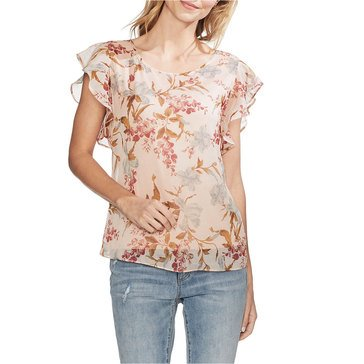 Vince Camuto Wildflower Ruffle Sleeve Blouse