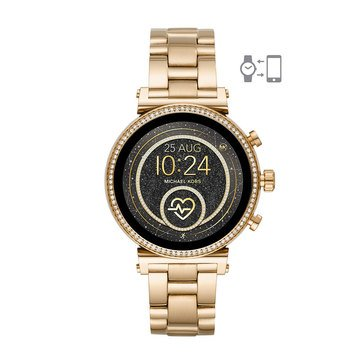 Michael Kors Women's Sofie Raven Gold Bracelet Smartwatch, 41mm