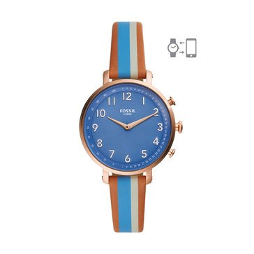 Fossil Women's Hybrid Smartwatch - Blue Leather
