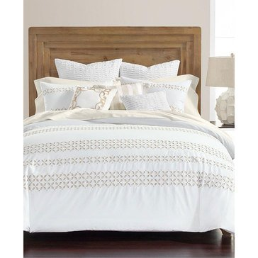 Martha Stewart Collection Eyelet White 8-Piece Comforter Set