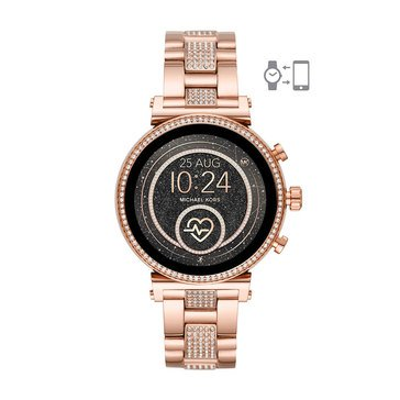 Michael Kors Women's Sofie Raven Two-Tone Rose Gold Bracelet Watch, 41mm