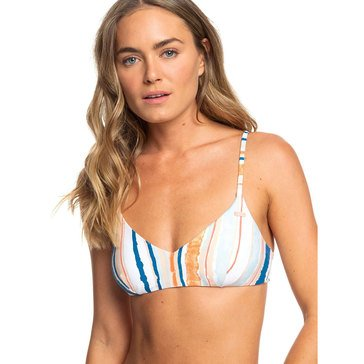 Roxy Women's Classics Mod Ath Triangle Swim Top ( mix with Riding Moon)