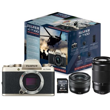 Fuji X-T100 Military Appreciation Bundle