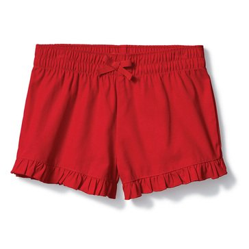 Yarn & Sea Big Girls' Ruffle Woven Shorts