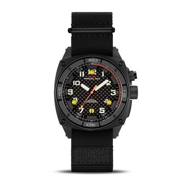 MTM Special Ops Falcon Stainless Steel/Black Nylon Watch, 44mm