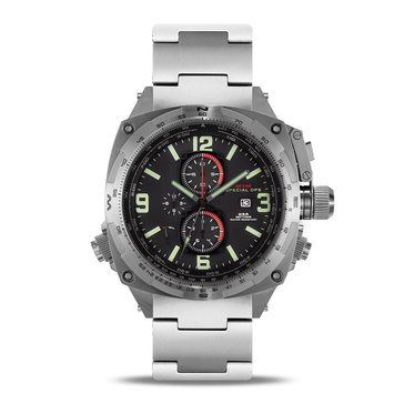 MTM Special Ops Cobra Chronograph Silver/Black Titanium Watch, 47.5mm