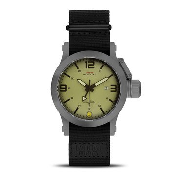MTM Special Ops Gunmetal Sport Gray/Tan Nato Black Watch, 49mm