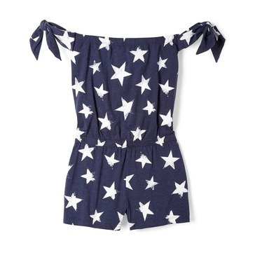 Yarn & Sea Little Girls' Bow Romper