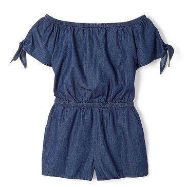 Yarn & Sea Little Girls' Off Shoulder Romper