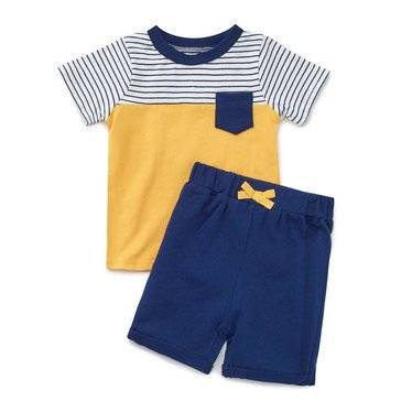 Issac Mizrahi Baby Boys' 2-Piece Tee Short Set