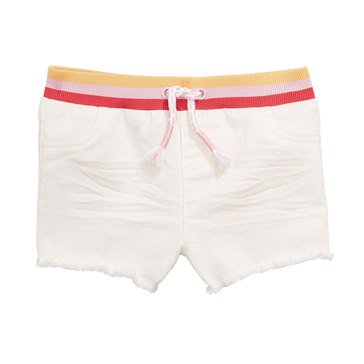 First Impressions Baby Girls' White Denim Shorts