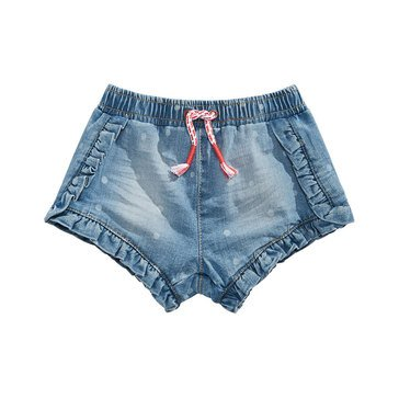 First Impressions Baby Girls' Ruffle Denim Shorts