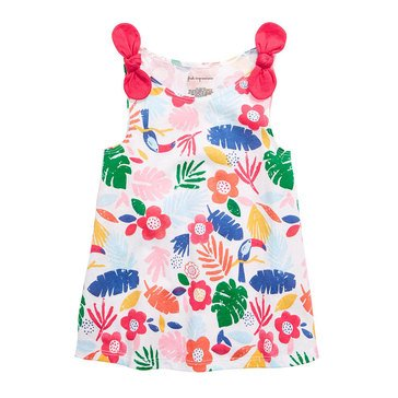 First Impressions Baby Girls' Tropic Floral Knot Tee