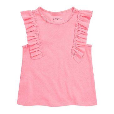 First Impressions Baby Girls' Rib Ruffle Top