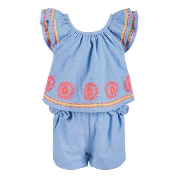 First Impressions Baby Girls' Embroidered Romper